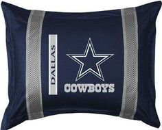 Dallas Cowboys pillow sham. #NFL #pillowcases