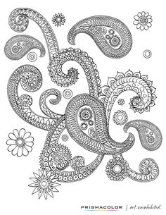 Check out this free adult coloring page! Find pencils and markers at - be sure to check out coupons for additional savings, in newspapers and online! Paisley Coloring Pages, Free Adult Coloring Pages, Doodle Coloring, Free Printable Coloring Pages, Colouring Pages, Coloring Sheets, Coloring Books, Drawing Tutorials, Doodle Art
