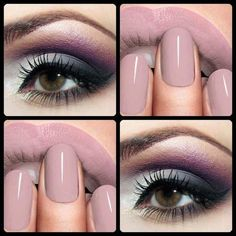 Makeup and nails! - love this nude mauve for lips  nails and the smoky combination for the eyes...beautiful!