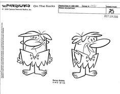 """Barney model sheet from 2001 special """"The Flintstones on the Rocks"""""""