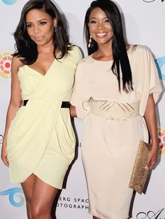 Sanaa Lathan & Gabrielle Union-Both beautiful women. Black Girls Rock, Black Girl Magic, My Black Is Beautiful, Beautiful People, Beautiful Women, Gorgeous Hair, Beautiful Eyes, Beautiful Pictures, Fierce