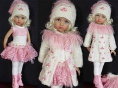 "SWEATER,SKIRT,LEOTARD&BOOTS SET MADE FOR EFFNER LITTLE DARLING&SAME SIZE 13""DOLL"