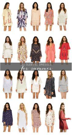 20 Sleeved Dresses f