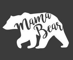 Mama Bear Decals by theDIYmama on Etsy