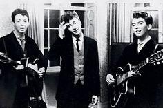 Paul McCartney, John Lennon y George Harrison en una boda