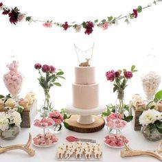 Sweet Dessert Table. Baby Girl Shower Idea