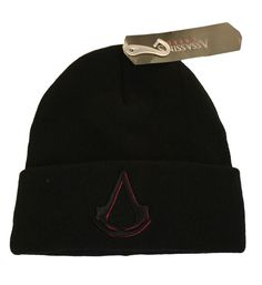 aa1e8b6ba40 Assassin s Creed Embossed Embroidered Movie Logo Cuff Knit Beanie Winter Hat  NWT