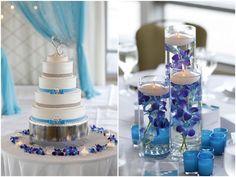 Blue Flower center pieces