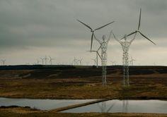 En Islande, les pylônes électriques embellissent le paysage