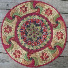 art quilt mandala - by JSP Create