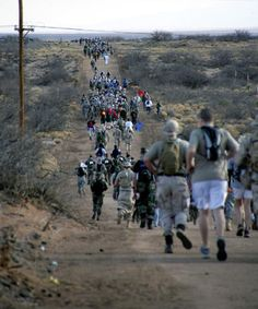 Bataan Death March in White Sands, New Mexico