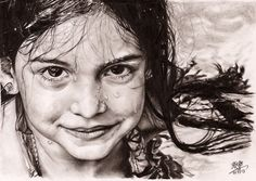 Face pencil drawing, ballpoint pen drawing, pencil art, pencil drawings t. Face Pencil Drawing, Pencil Drawings Of Animals, Girl Face Drawing, Realistic Pencil Drawings, Ballpoint Pen Drawing, Drawing Faces, Pencil Art, Art Sketches, Art Drawings