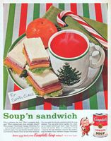 Campbell's Kids Tomato Soup for Santa Claus 1962 Ad Picture