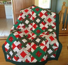 Christmas Quilt Christmas Cushions To Make, Quilting, Blanket, Pillows, Sewing, Pattern, Ideas, Bedspreads, Dressmaking