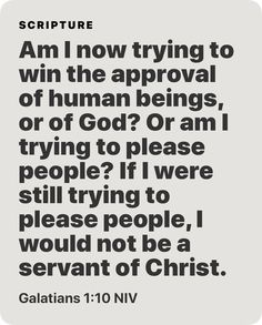 Galatians 1:10 NIV