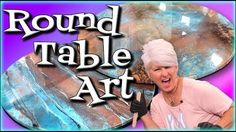Round Table Resin Art will show step by step how to use Stone Coat Countertop Epoxy to refinsh DIY projects like a pro. Learn metallic color tips and tricks . Diy Resin Table Tops, Painted Table Tops, Epoxy Table Top, Wood Resin Table, Plywood Table, Diy Table Top, Epoxy Resin Table, Epoxy Resin Art, Diy Epoxy