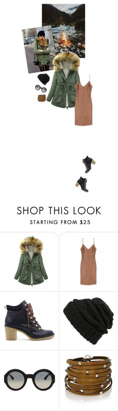 """""""Camel Slip Dress"""" by risingsea ❤ liked on Polyvore featuring E + J, Miista, Leith, Gucci, Sif Jakobs Jewellery, women's clothing, women's fashion, women, female and woman"""