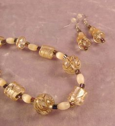 Price Reduced  Peaches and Cream Necklace 1005 by nenafashions, $33.00