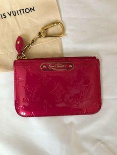 3f4c5e284d2a Louis Vuitton Monogram Vernis Key Pouch Limited Edition pink
