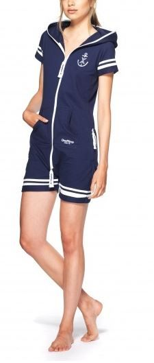 Naval Fitted Short Jumpsuit Dress. This is REALLY cute for a day on the boat