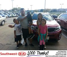 https://flic.kr/p/LrvtQH | #HappyAnniversary to Dennis and your 2015 #Kia #Sorento from Janet Alba at Southwest Kia Mesquite! | www.deliverymaxx.com/DealerReviews.aspx?DealerCode=VNDX
