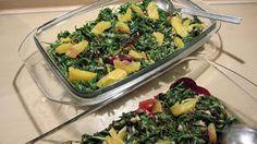 Grün wie die Hoffnung, also das perfekte Silvesteressen: Rucolasalat mit Orangenfilets und Rote-Beete-Carpaccio