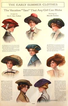 Hats in Ladies' Home Journal, May 1912