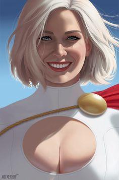 "thehappysorceress: ""Power Girl by Matt Merhoff "" Dc Comics Characters, Dc Comics Art, Marvel Dc Comics, Marvel Girls, Comics Girls, Marvel Women, Supergirl, Batgirl, Power Girl Dc"