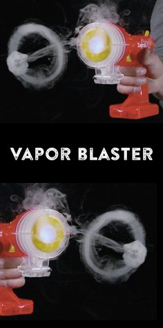 The Zero Blaster is a quirky toy with a retro feel. A bright blue LED light illuminates the vapor rings, which measure about 2-4 inches in diameter and can travel up to 12 feet before disappearing.