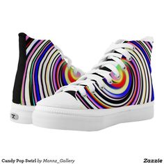Candy Pop Swirl Printed Shoes