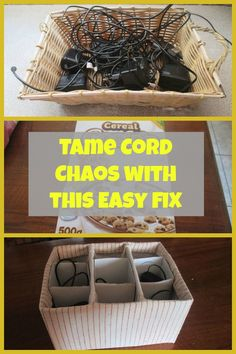 The easy and free way to keep cords tangle free.
