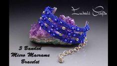 3 band micro macrame bracelet