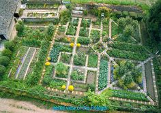 Rosemary Verey's potager . Barnsley House near Cirencester, Gloucestershire