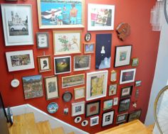 Amy & Meghan's Charming Nest in Williamsburg---love a gallery wall that is a true hodgepodge!  very personal