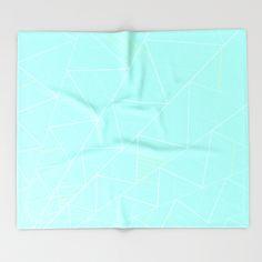 ZETA Throw Blanket #society6 #home #decor #design #triangle #throwblanket #blanket #mint #white #nordic #scandinavian