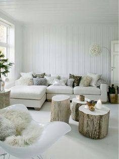 Top Traditional Scandinavian Interior Design With Traditional Scandinavian Living Room Interior Love The Tree Stump Decor, Furniture, Home, Living Room White, Scandinavian Interior Living Room, Living Room Scandinavian, House Interior, Interior Design, Home And Living