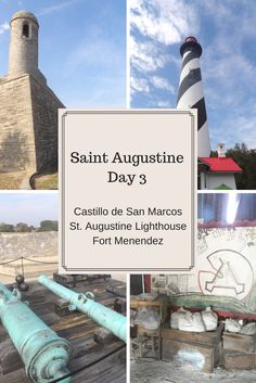 Just finished writing about our last day in St. Augustine! We visited Castillo de San Marcos, the St. Augustine Lighthouse, and Fort Menendez.
