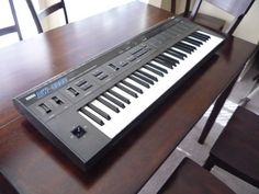 My first real synth was Korg's DW-6000, but I was always jealous of its big brother the DW-8000. Oooh, velocity sensitive keyboard! Online effects processor! 8 voices!
