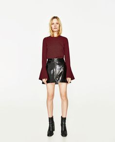 RIBBED FRILLED SWEATER-View All-T-SHIRTS-WOMAN | ZARA United States