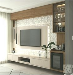 painel Home theaters Ane on Instagra - hometheaters Tv Cabinet Design, Tv Wall Design, House Design, Tv Unit Decor, Tv Wall Decor, Tv Unit Furniture Design, Modern Tv Wall Units, Modern Tv Room, Living Room Tv Unit Designs