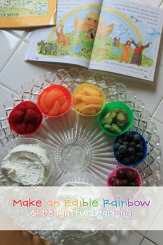 Make An Edible Rainbow for Noah's Ark