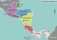 Central America Map (7 countries) - Wikipedia, the free encyclopedia