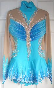 Ice Figure Skating dress/Rhythmic gymnastics leotard/Baton Twirling Made to Fit | eBay