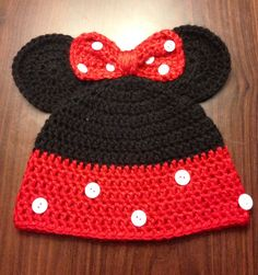 Hey, I found this really awesome Etsy listing at http://www.etsy.com/listing/112153066/crochet-minnie-mouse-hat