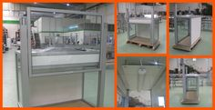 Cabina para laboratorios de investigación realizado en perfil de aluminio y accesorios MiniTec.