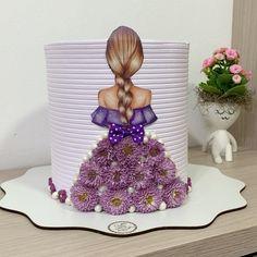 Creative Birthday Cakes, Elegant Birthday Cakes, Cute Birthday Cakes, Beautiful Birthday Cakes, Easy Cake Decorating, Cake Decorating Techniques, Girly Cakes, Cute Cakes, Beautiful Cake Designs