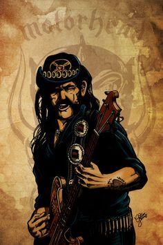 Lemmy Kilmister is God! by christiano-bill Blues Rock, Metallica, Rock And Roll, Ranger, Heavy Metal Rock, Famous Musicians, Thrash Metal, Rock Legends, Foo Fighters