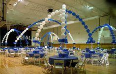 decorating a gymnasium ceiling | Transform a plain gym into an exciting venue for awards banquets