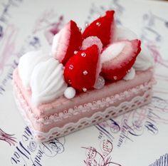 Felt cake by aoisart.etsy.com