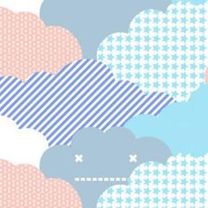 Clouds Sunshine - Artisanal Wallpaper from The Wallpaper Collective